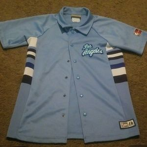 los angels lakers button up